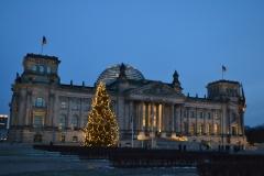 Berlin Reichstag nocą