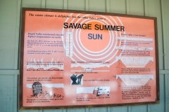 Dolina Śmierci - tablica informacyjna